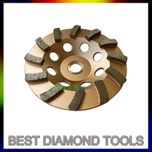 "4"" 9"" Fast Speed Turbo Diamond Grinding Diamond Tools Cup Wheel"