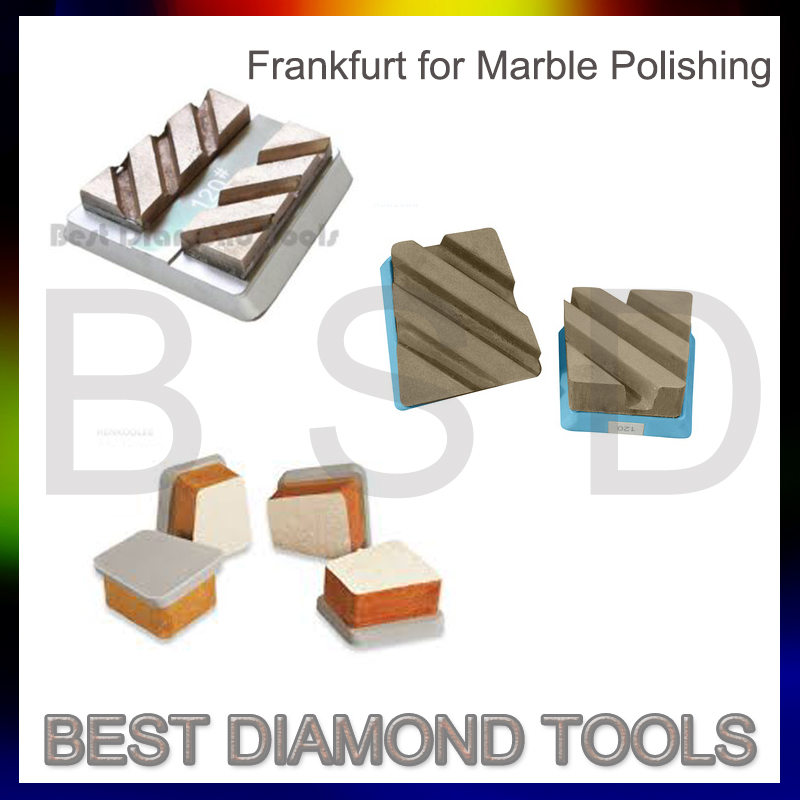 L140mm Diamond Metal Fickert/Frankfurt Abrasives For 16 heads 20 heads Granite Automatic Polishing line