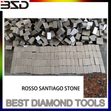 Diamond Segment for Ukraine ROSSO SANTIAGO stone cutting
