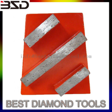 Concrete abrasive tool diamond grinding wedge block