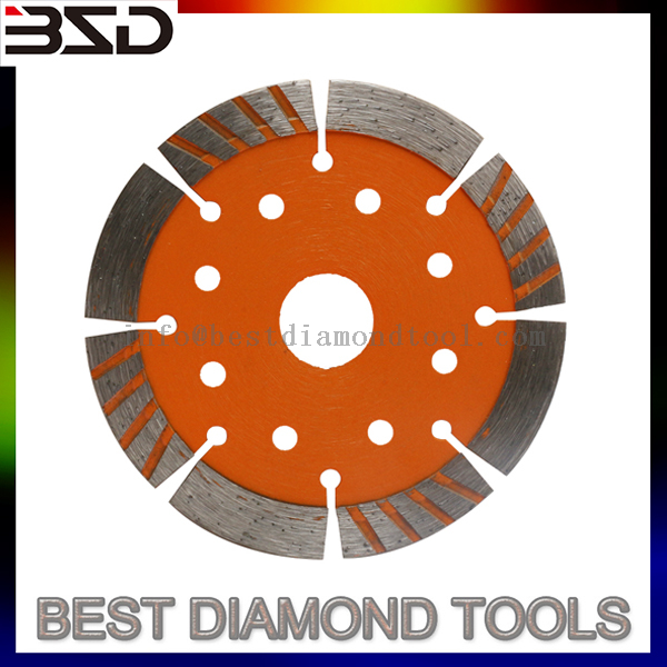 115mm Diameter 10mm*2*22.23mm cold press diamond saw blade for masonry