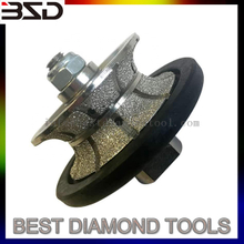 Vacuum brazed granite router bit profile wheels