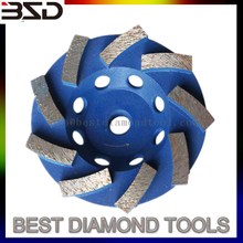 "New 4"" Segmented Turbo Diamond Grinding Cup Wheel For Concrete"