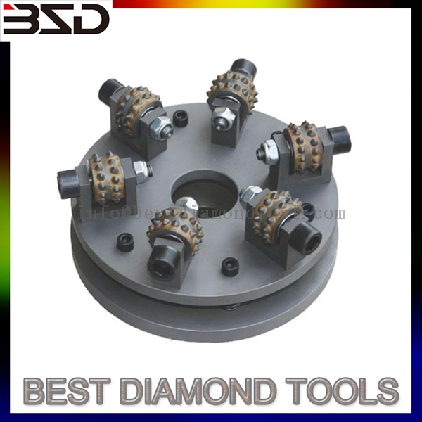 Diamond Bush Hammer Roller Tool Frankfurt Shape for Concrete