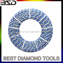11.0mm 11.5mm Diamond Wire Rope Stone Quarry Cutting Wire Saw Used On Diamond Wire Saw Machine