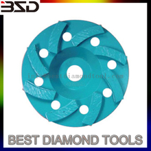 "3"" inch sintered turbo diamond grinding cup wheel"