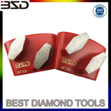 Metal Bond Diamond HTC Grinding Segment For Granite Marble Terrazzo Quartz Concrete